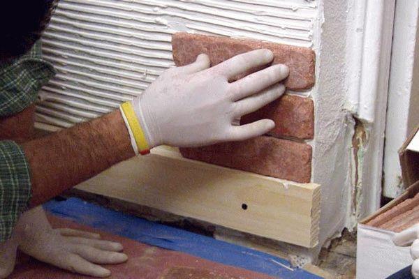 Технология укладки декоративного камня