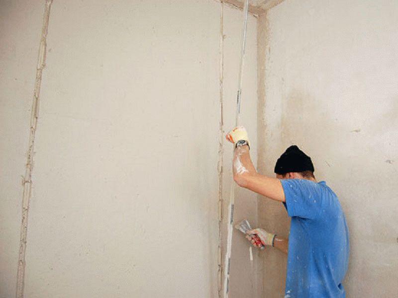 Как ставить маяки на стену