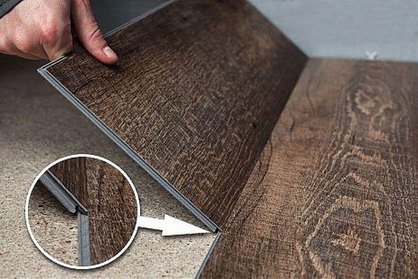 Чтобы не повредить замки плитки необходимо производить ее монтаж под углом 45 градусов