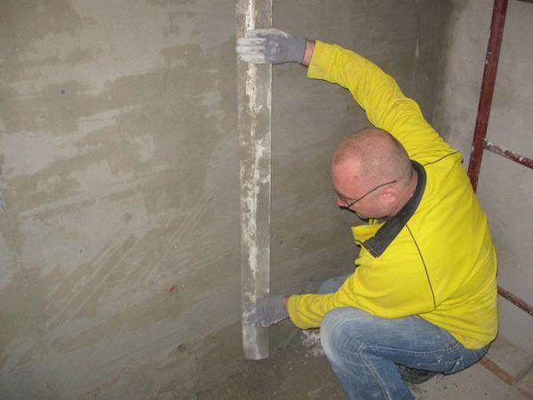 Безмаячковый метод чаще всего используется для выравнивания небольших поверхностей