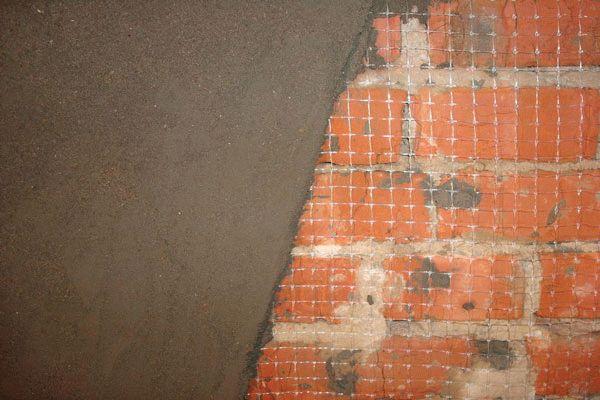Цементная штукатурка на армирующей сетке