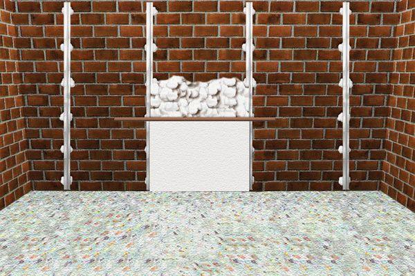 Штукатурка стены по маякам: выравнивание раствора с помощью правила