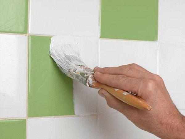 Покраска плитки своими руками