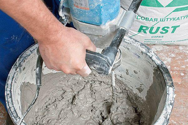 Цементная штукатурка с гипсом