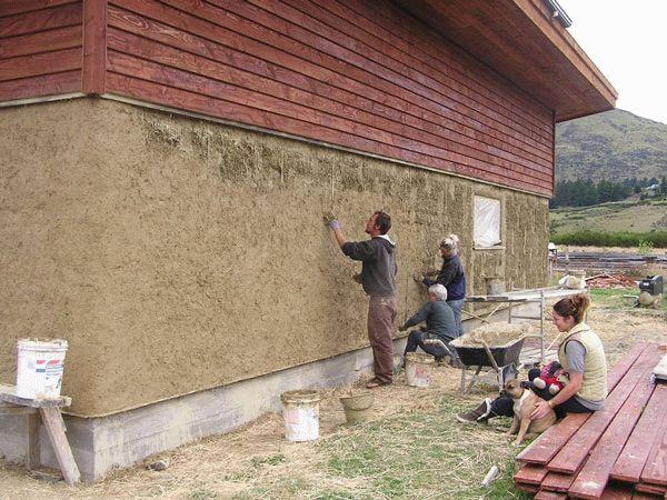 Теплая штукатурка деревянного дома