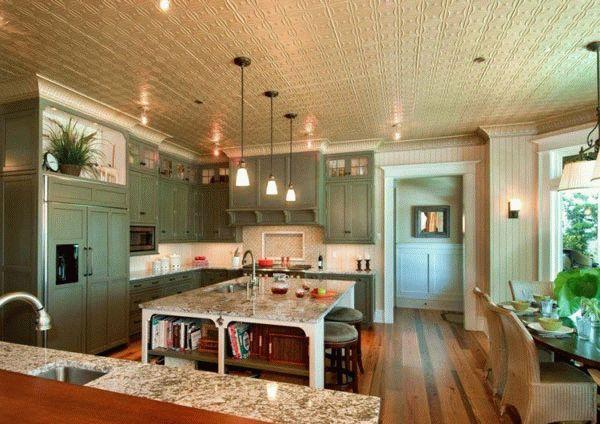 Окрашенная потолочная плитка