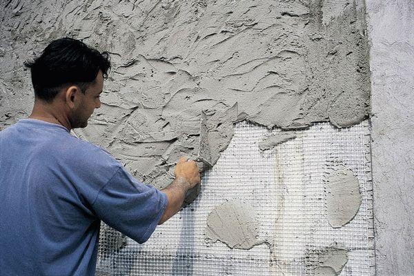Штукатурка бетонных блоков