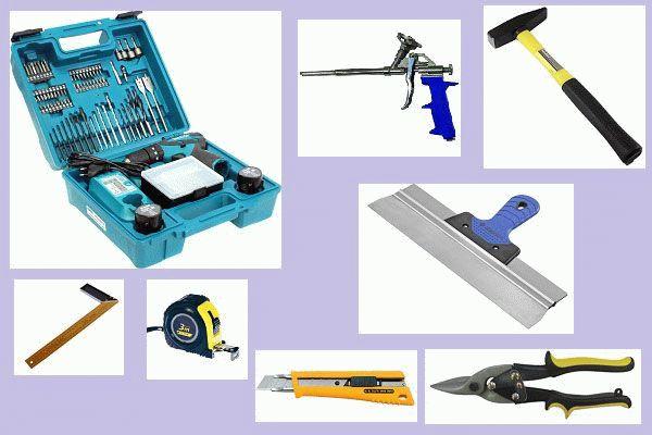 Инструменты для установки откоса