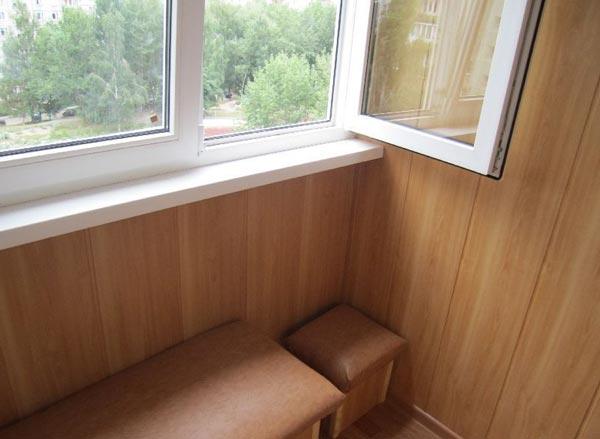 МДФ панели на балконе