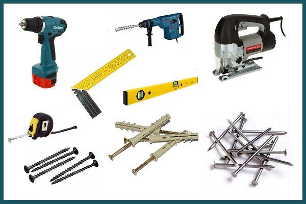 Инструменты и расходные материалы, необходимые для монтажа деревянной вагонки