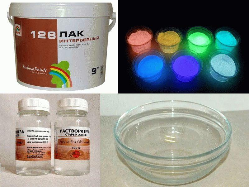 Изготовление люминесцентной краски