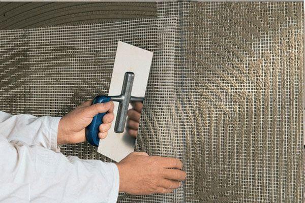 Укрепление стены армирующей сеткой