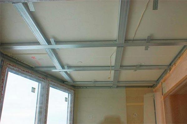 Монтаж металлического каркаса на потолок под пластиковые панели