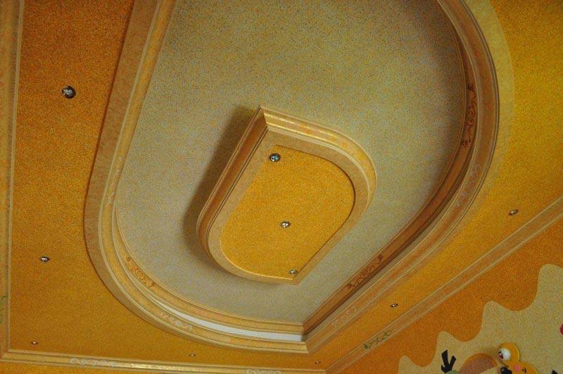 Современный вариант отделки потолков - жидкие обои