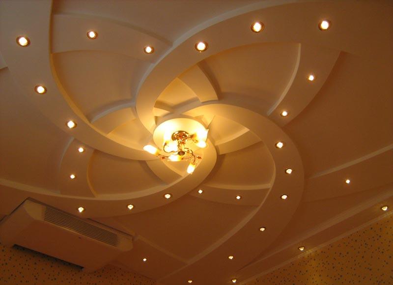 Потолочная конструкция из гипсокартона
