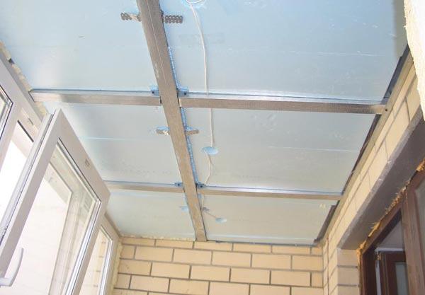 Металлический каркас для обшивки потолка гипсокартоном
