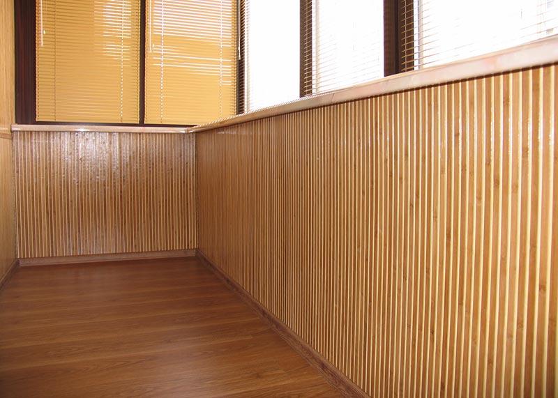 Оклейка бамбуковыми обоями