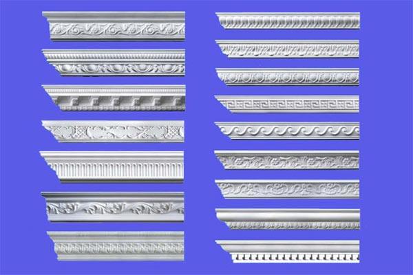 Варианты потолочных плинтусов