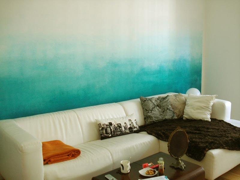 Градиентная окраска стен