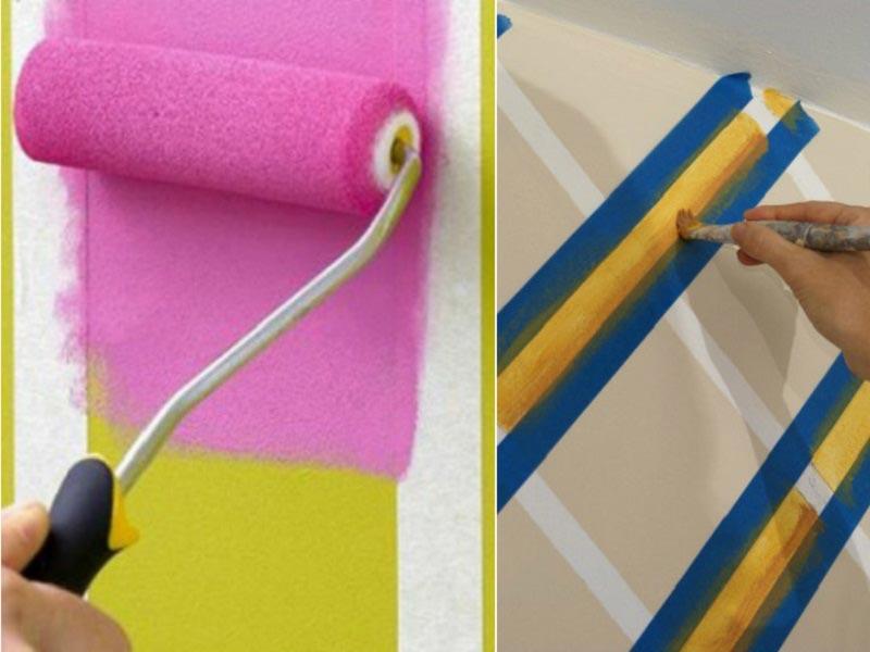 Методы окрашивания стен