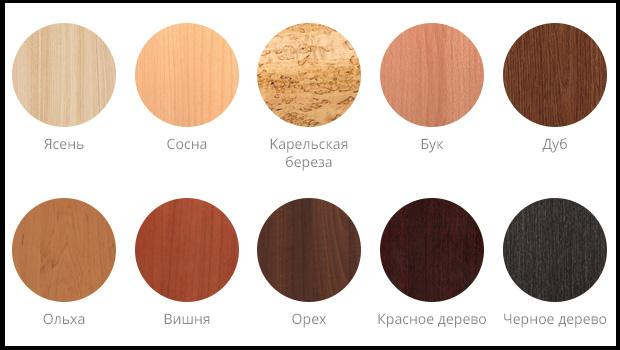 Внешний вид древесины, используемой для отделочных работ
