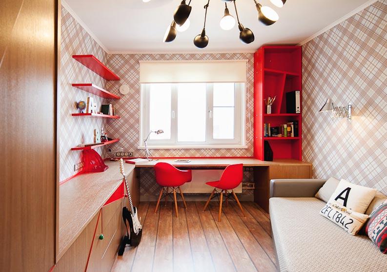 С помощью обоев с рисунком можно создать стильный интерьер подростковой комнаты и подчеркнуть индивидуальность ее хозяина