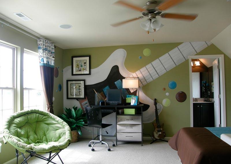 Выбор обоев для отделки комнаты мальчика не должен быть вперекор предпочтениям подростка