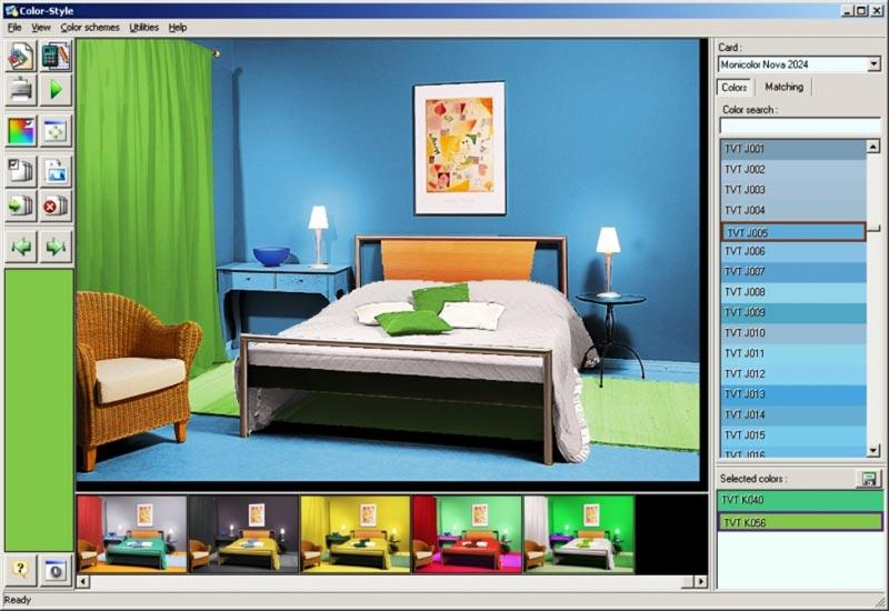 С помощью графического редактора можно предварительно увидеть, как будет выглядеть задуманная покраска стен