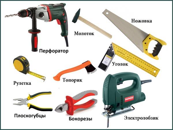 Инструменты, необходимые для обшивки балкона вагонкой