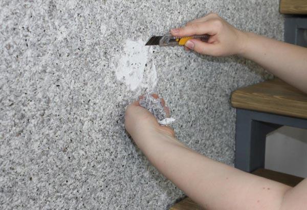 Как снять со стен жидкие обои