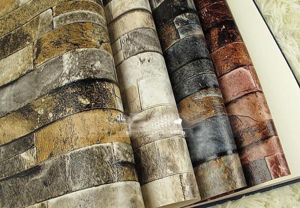Современные обои под камень отличаются разнообразием рисунков и текстур