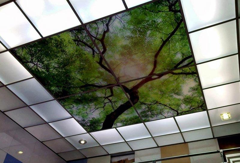 Кассетный вариант оформления потолочной поверхности
