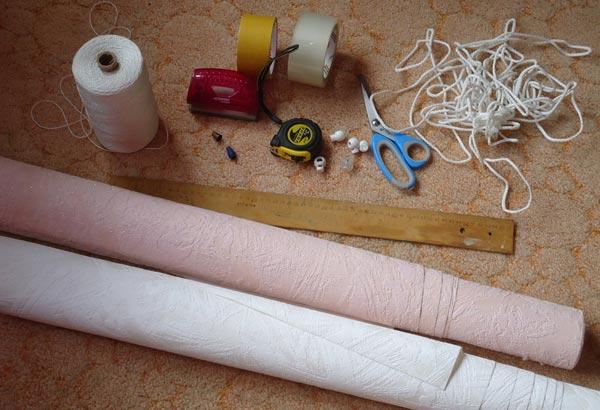 Инструменты и материалы, необходимые для самостоятельного изготовления жалюзи