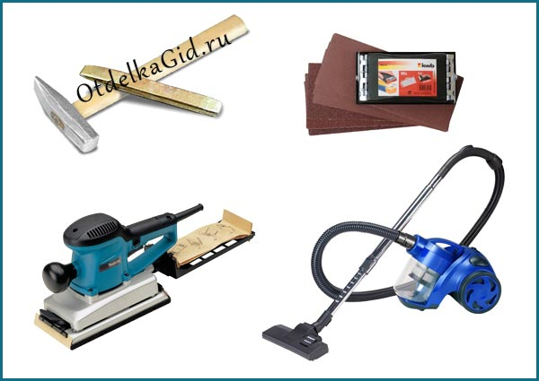 Инструменты и расходные материалы, необходимые для демонтажа старого штукатурного слоя