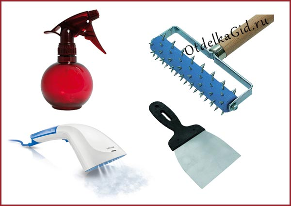 Инструменты и приспособления, которые могут потребоваться для снятия старых обоев