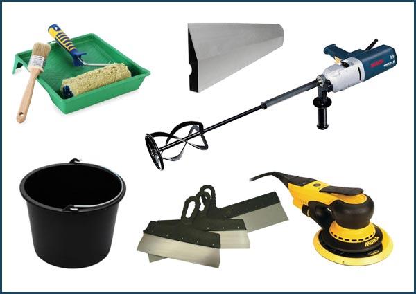 Инструмент, необходимый для подготовки стены к покраске