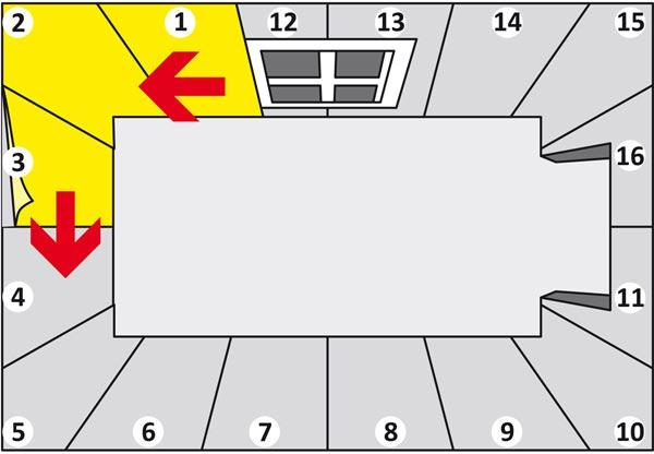 Направление поклейки однослойных бумажных обоев
