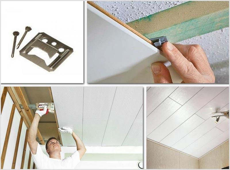 Поэтапная установка панелей МДФ на потолок