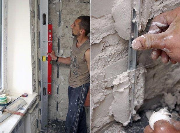 Установка маяка на стену