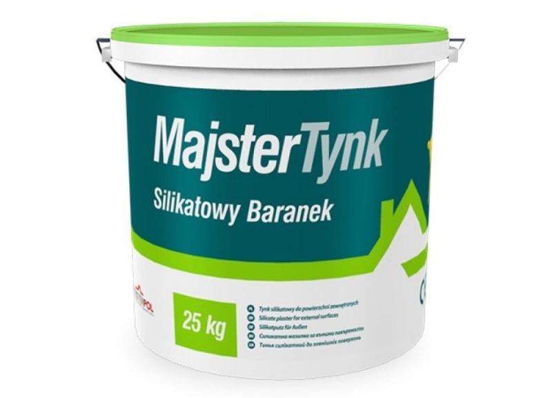 """Силикатная фасадная штукатурка Majstertynk с фактурой """"Барашек"""""""