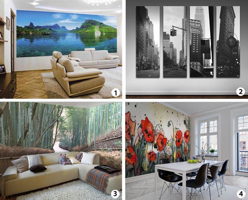 Как правильно выбрать и поклеить фотообои на стены
