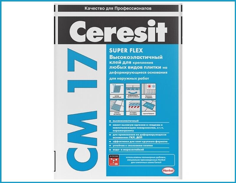 Плиточный клей для наружных работ Ceresit CM17