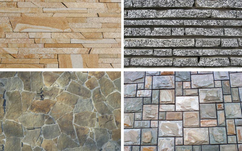 Образцы натурального фасадного камня