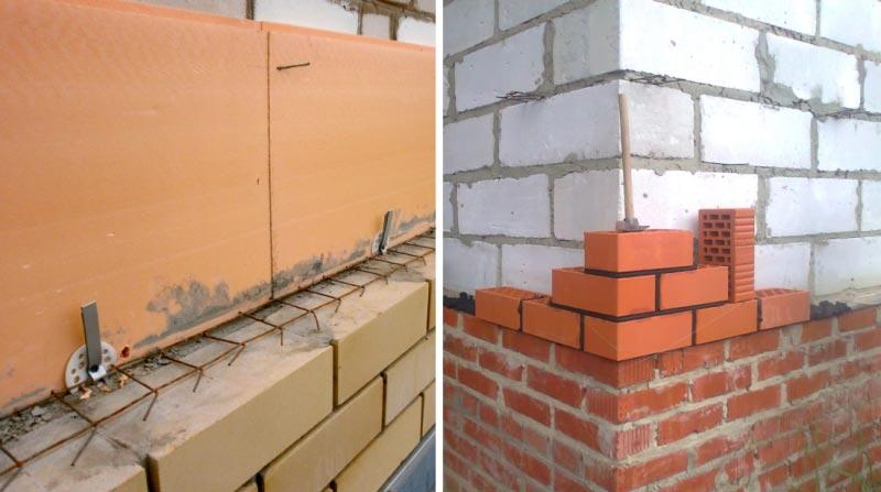 Облицовка с предварительным утеплением стен и без термоизоляционного материала