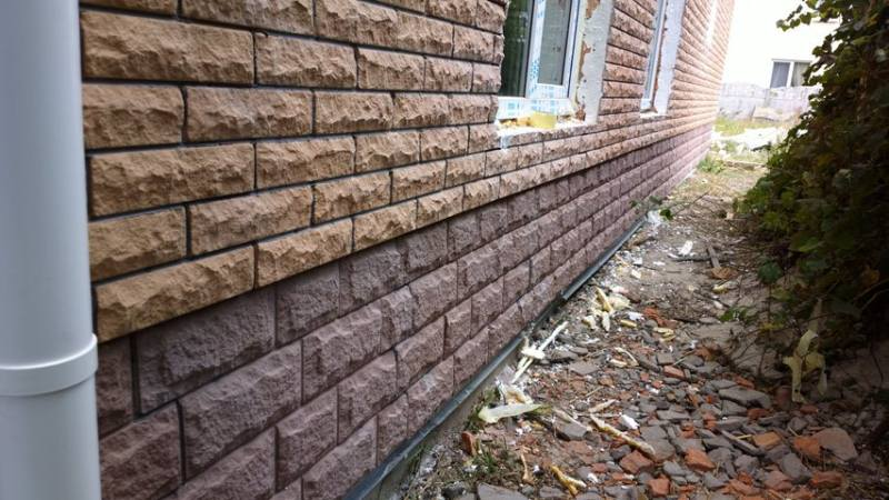 Пример облицовки бетонной плиткой