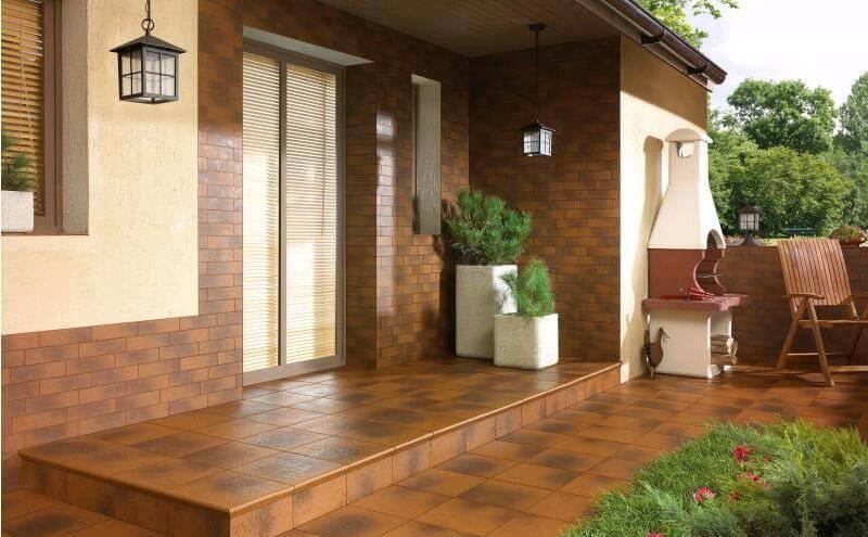 Керамическая плитка в отделке фасада