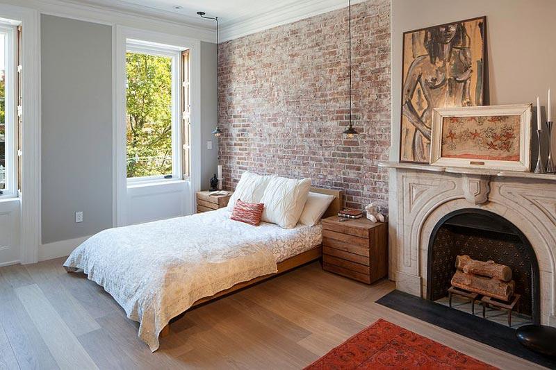 Вариант оформления стен с частичной имитацией покрытия