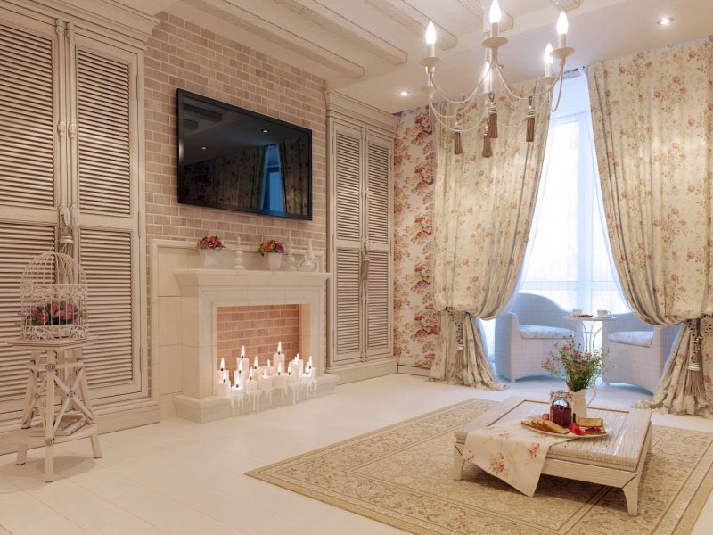 Для прованского стиля характерны пастельные оттенки, кованые предметы декора, цветочные мотивы как в отделке, так и в текстиле