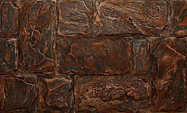 Гипсовая плитки под старину, окрашенная олифой
