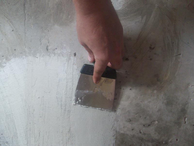 Шпаклевка незначительных дефектов поверхности
